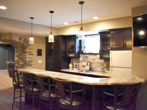 Fishers Stone Accent Basement